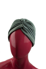 Slip-on Pleated Turban - Gray
