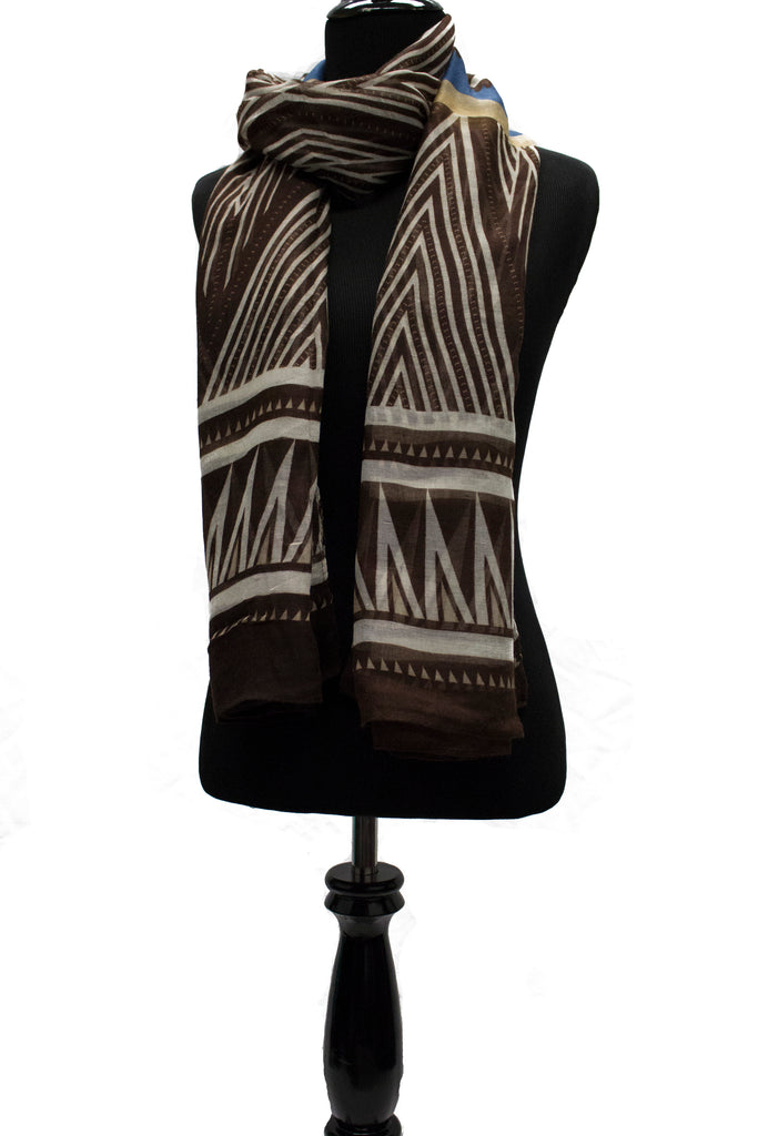 Brown Tribal Hijab