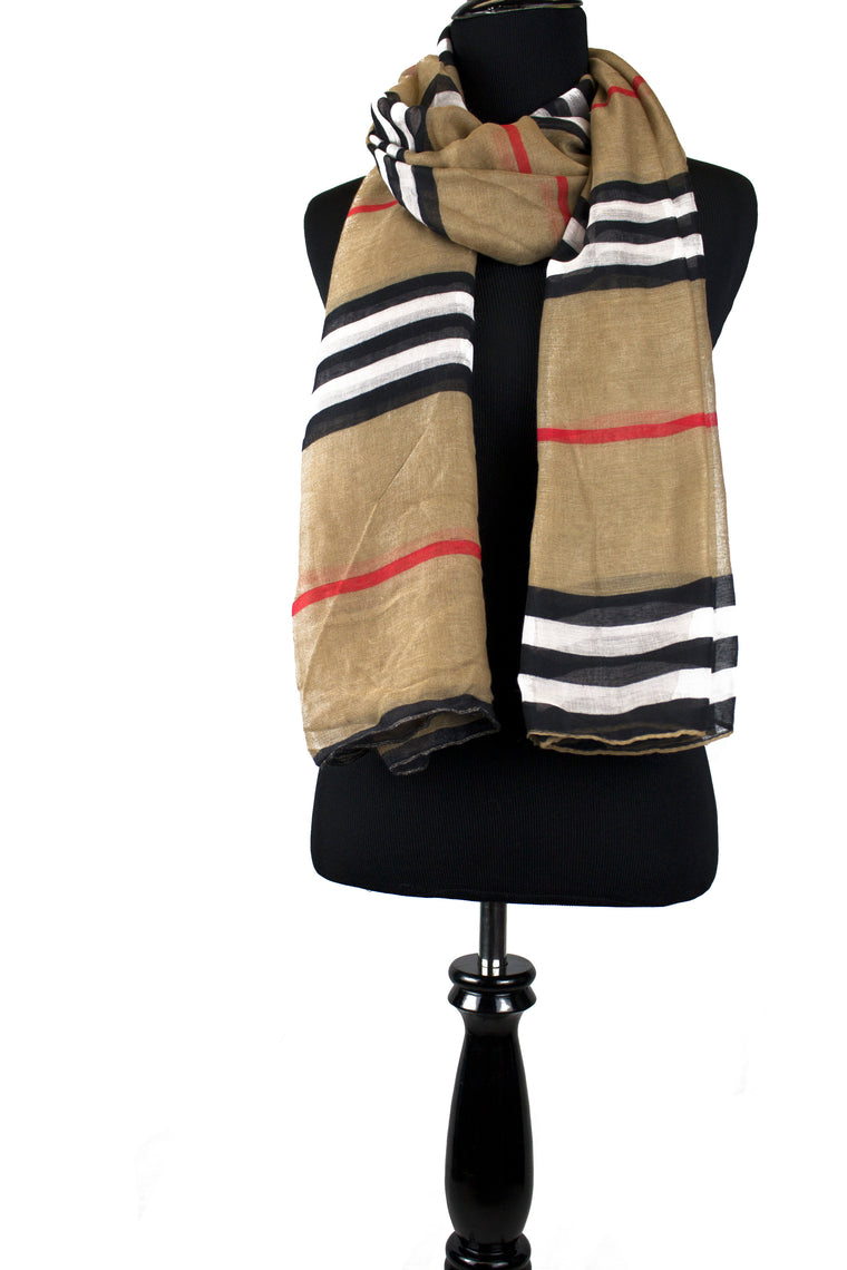 Camel Striped Hijab