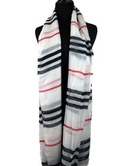 White Striped Hijab