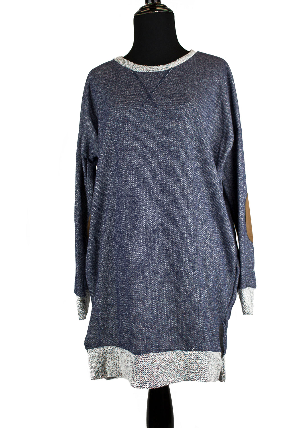 Elbow Patch Sweater - Navy
