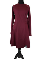 maroon modest long sleeved workout top