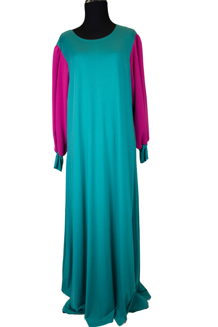 Two-toned Jersey Maxi Dress