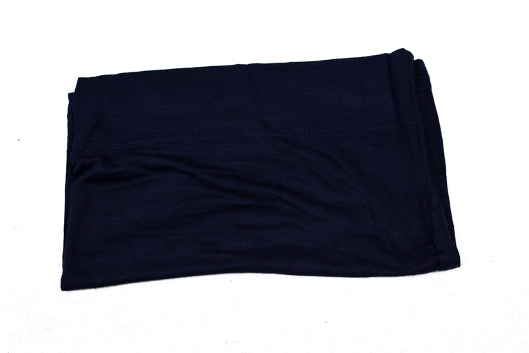 Jersey Under Scarf Tube Cap - Navy Blue