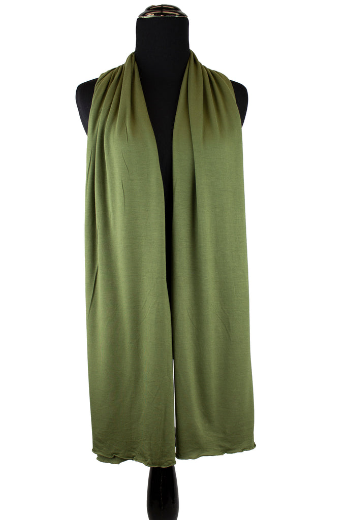 Jersey Hijab - Light Olive Green
