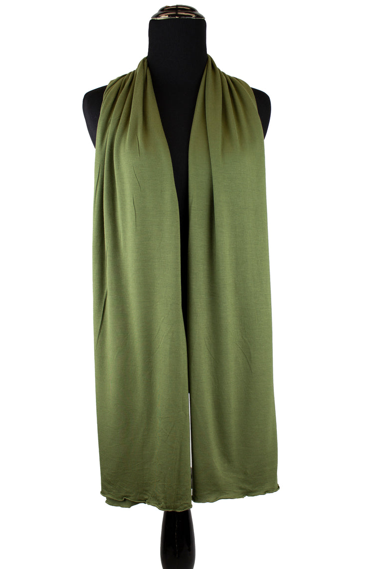 jersey hijab in light olive green