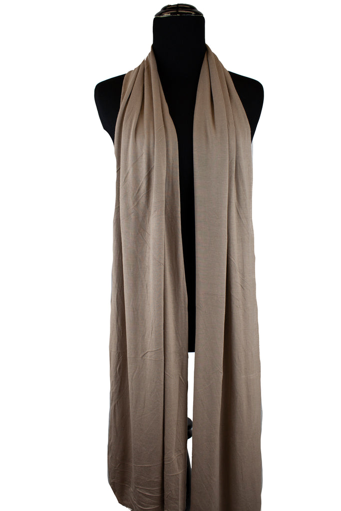 jersey hijab in taupe