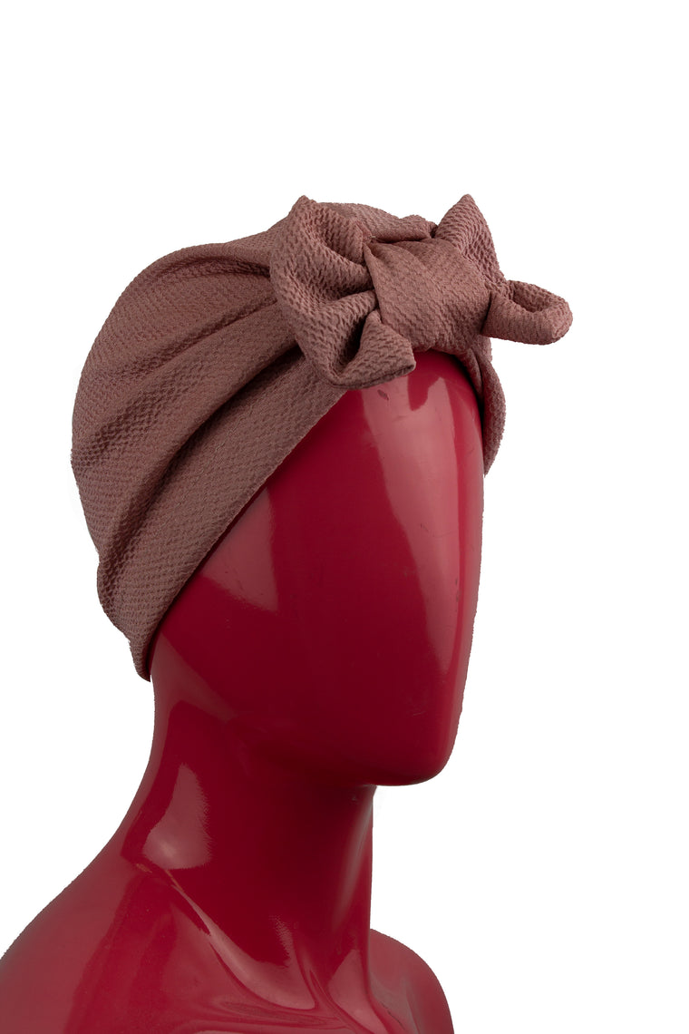 Bow Turban - Mauve