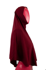 One-Piece Slip-on Khimar - Maroon