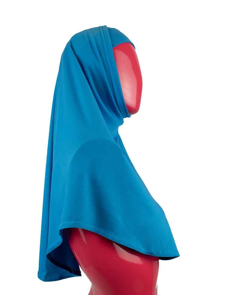 Extra Long Two-Piece Amira Hijab - Teal