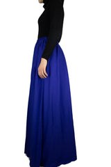 High-Waisted Maxi Skirt - Royal Blue