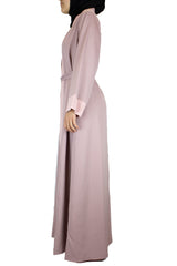 Two-Toned Abaya - Mauve