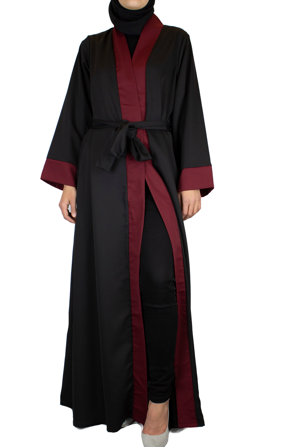 Two-Toned Abaya - Black