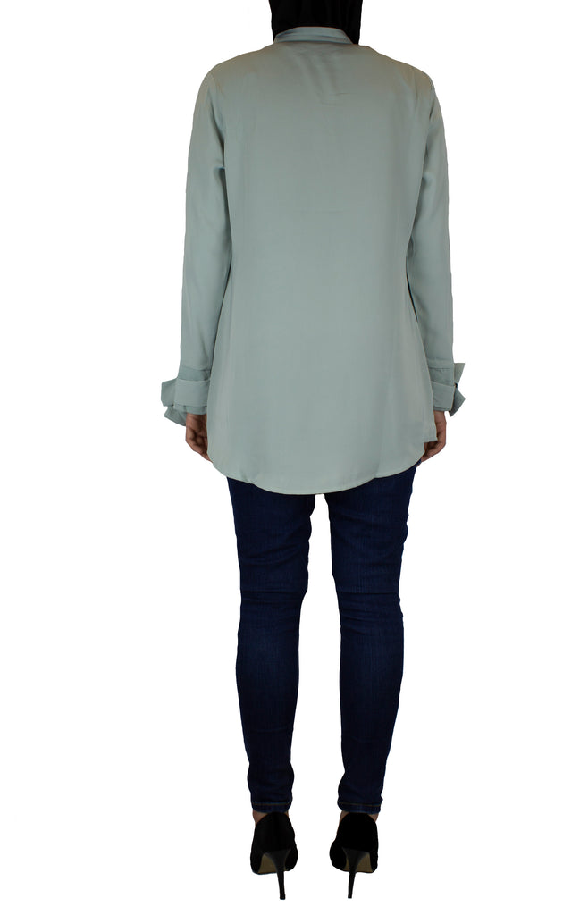 Bow Sleeve Top - Touch of Mint