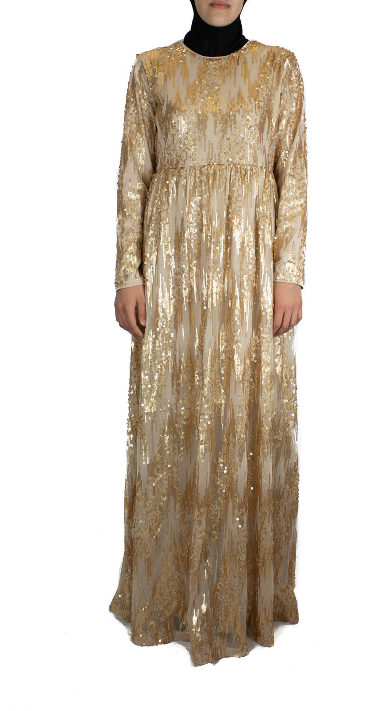 Waterfall Sequin Dress