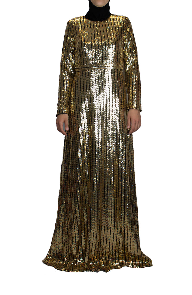 Panel Sequin Dress