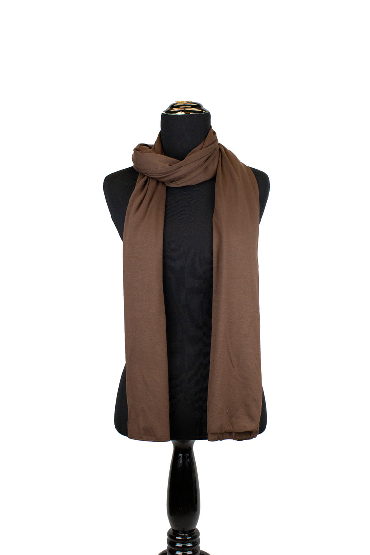Maxi Jersey Hijab - Brown