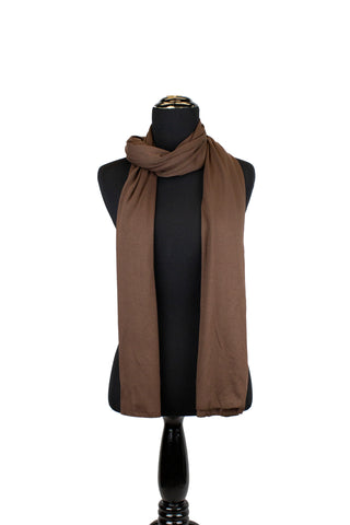 jersey hijab in brown