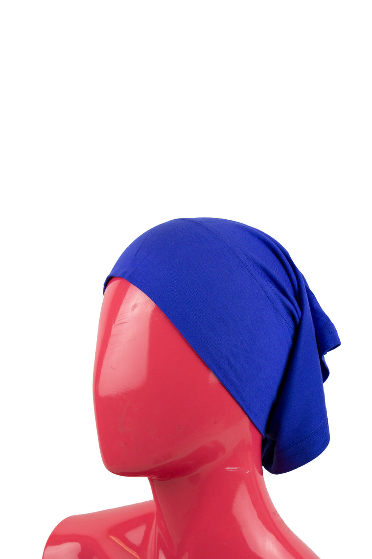 Jersey Under Scarf Tube Cap - Royal Blue