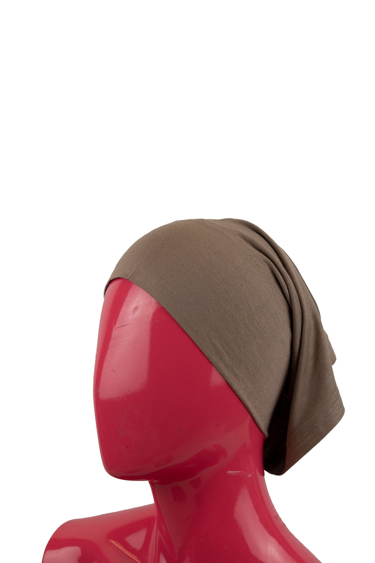Jersey Under Scarf Tube Cap - Mocha