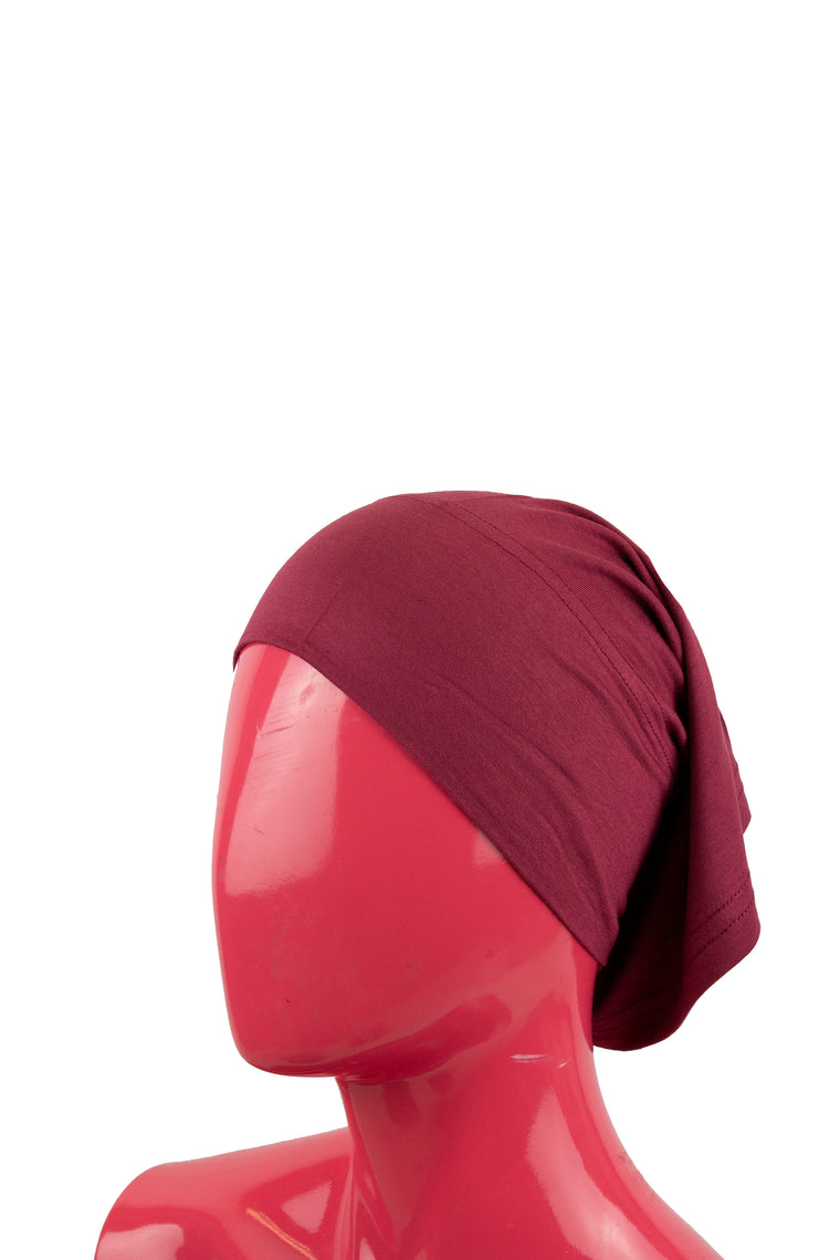 Jersey Under Scarf Tube Cap - Maroon