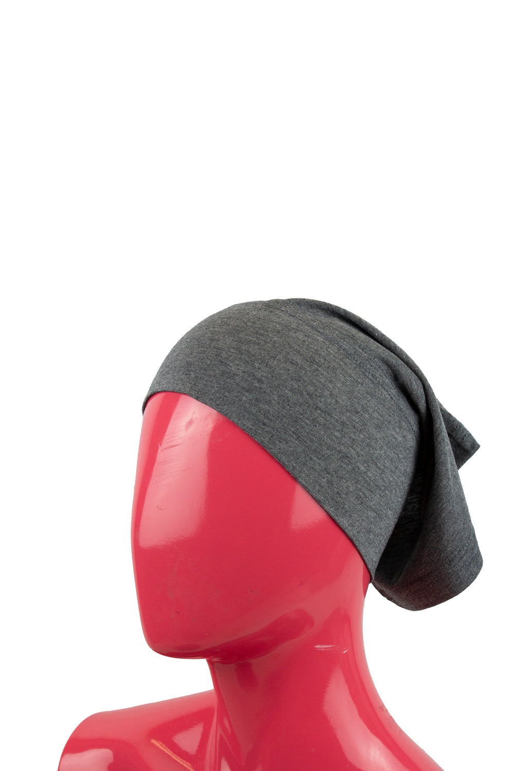 Jersey Under Scarf Tube Cap - Heather Gray