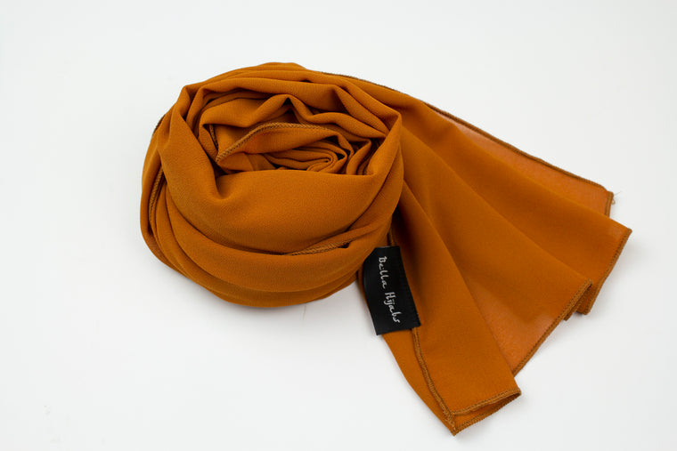 Premium Chiffon Hijab - Burnt Orange