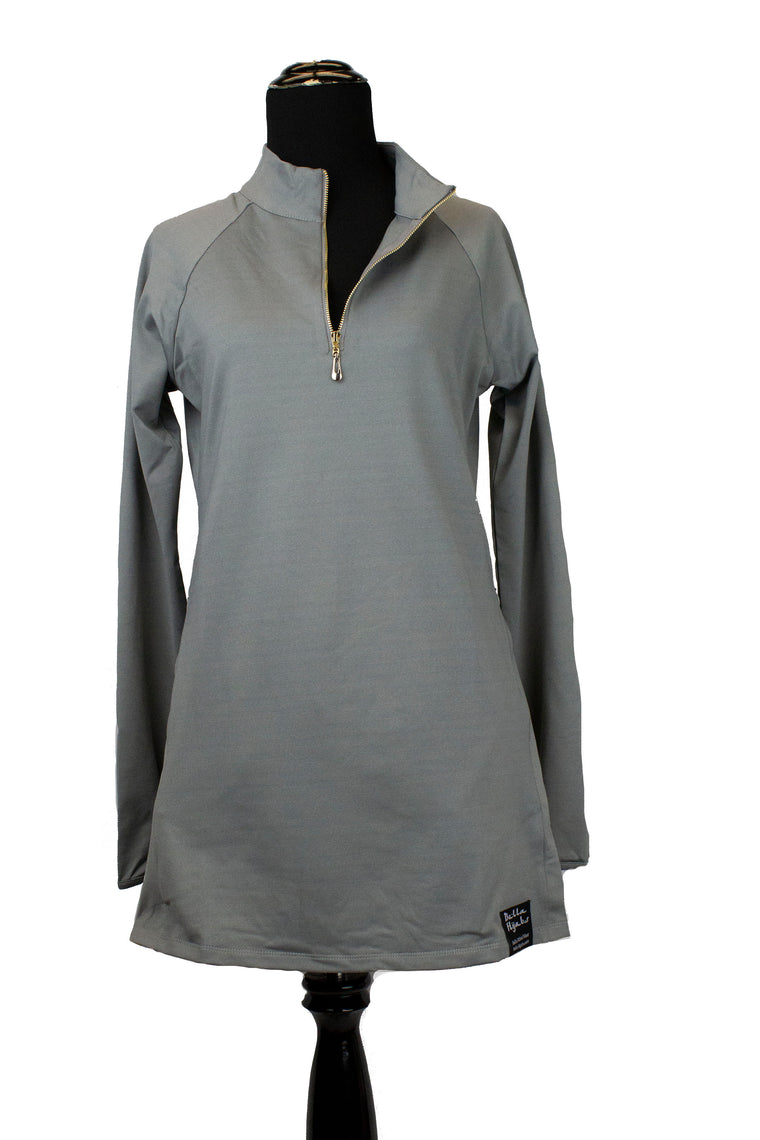 Attivo Half-Zip Workout Top - Gray