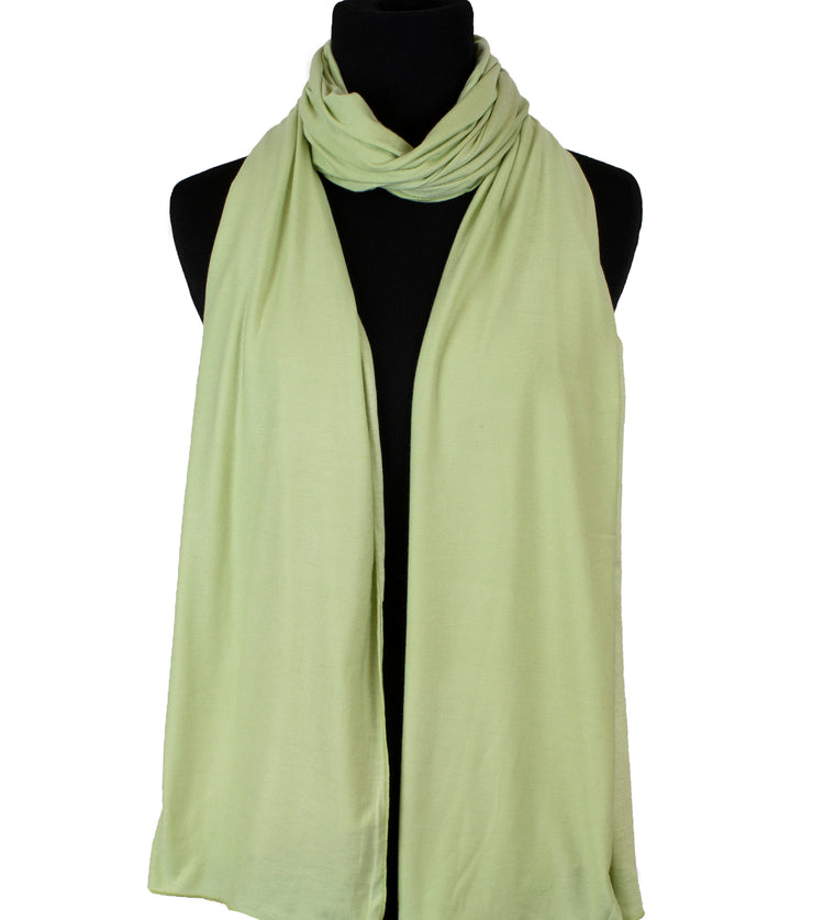 Jersey Hijab - Lime Cream