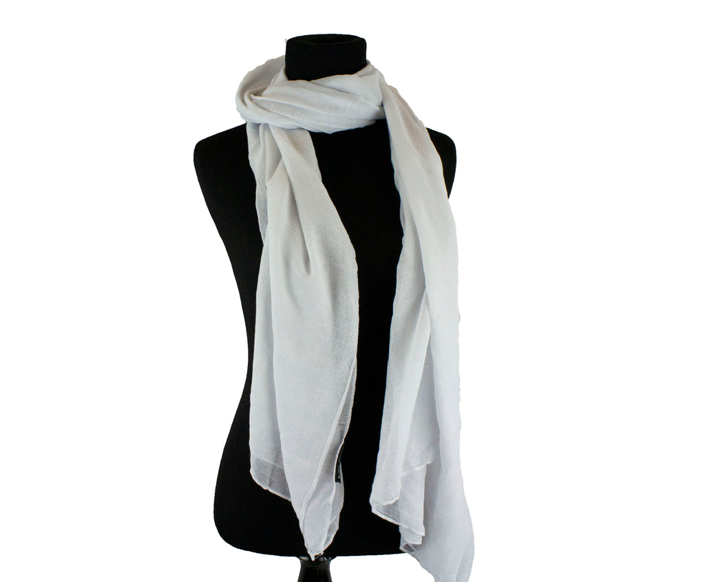 white solid viscose hijab