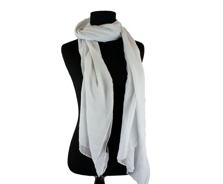 Viscose Hijab - White