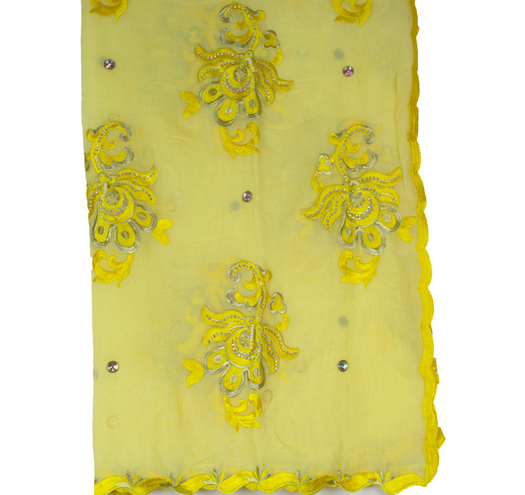 Mayafi Shawl Wrap - Yellow