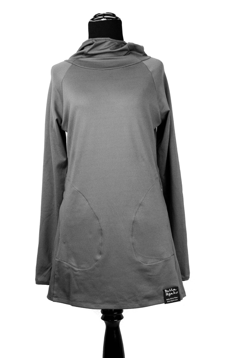 Attivo Hooded Workout Top - Gray
