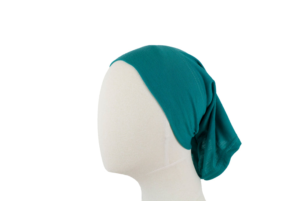 turquoise under cap for hijab
