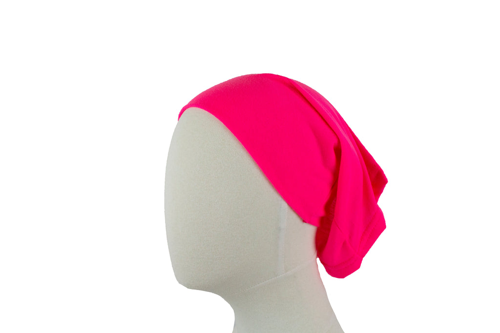 neon pink undercap for hijab