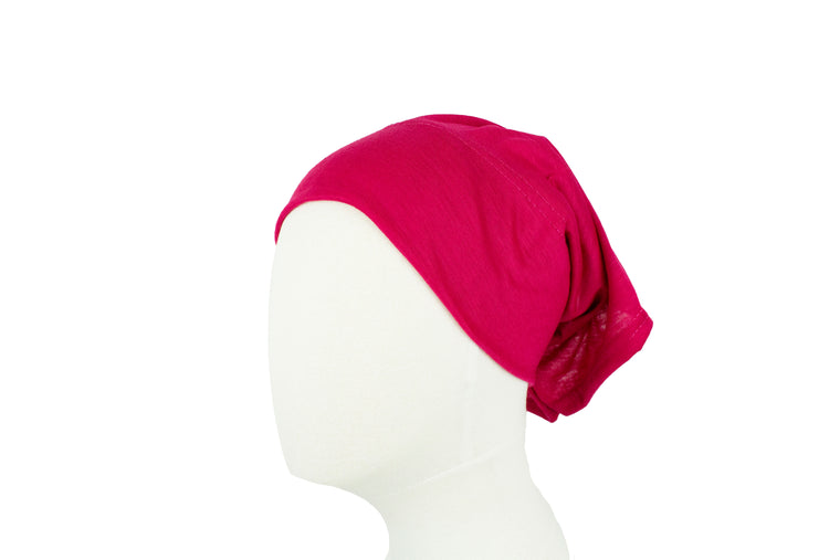 Under Scarf Tube Cap - Fuschia
