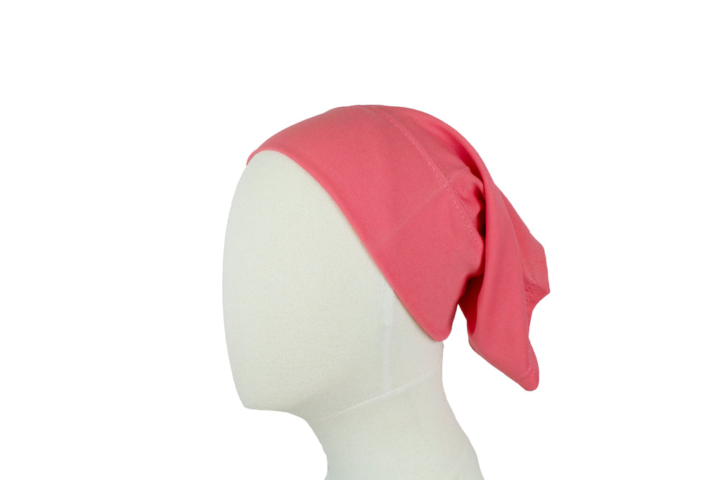 pink under scarf tube cap for hijab