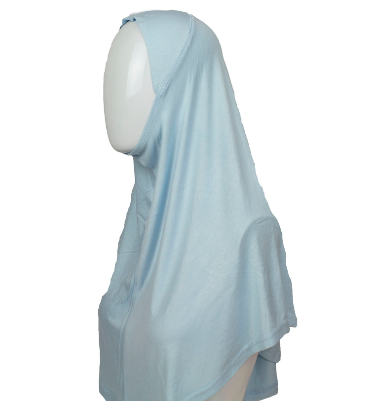 One Piece Slip on Jersey Hijab - Baby Blue