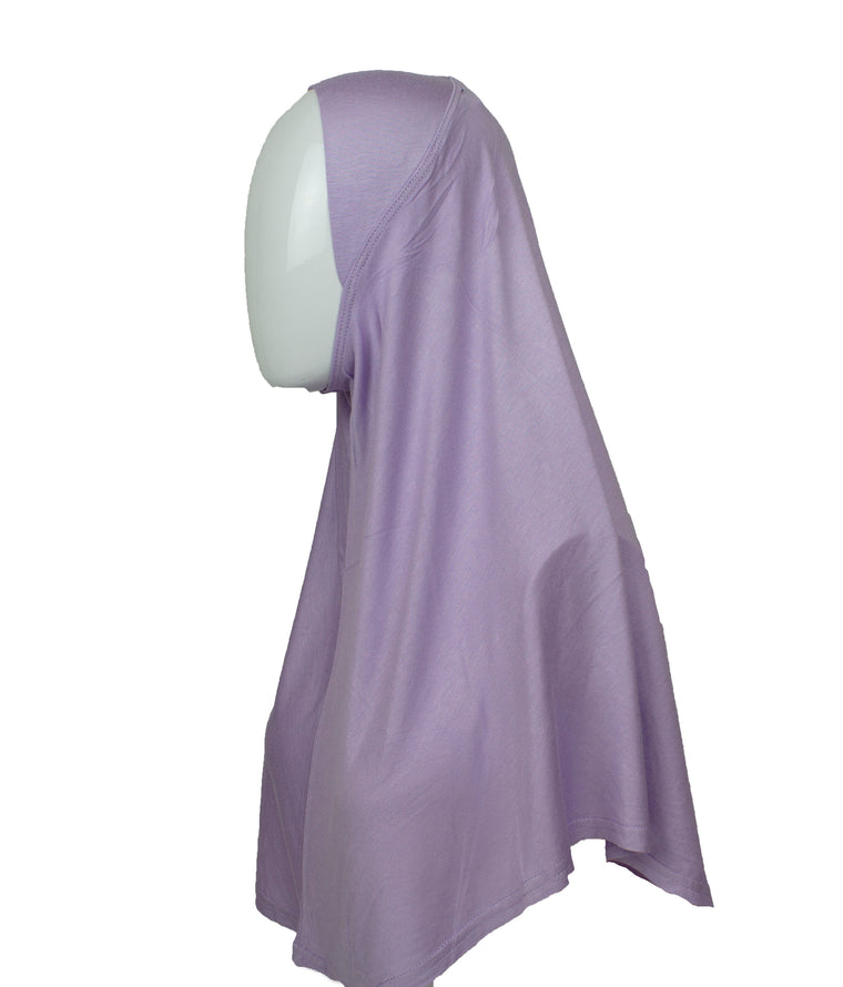 One Piece Slip on Jersey Hijab - Lilac