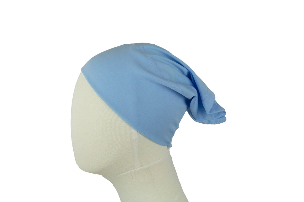 light blue undercap for hijab