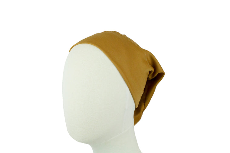 Under Scarf Tube Cap - Peanut
