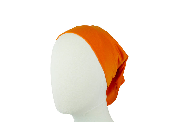 Under Scarf Tube Cap - Orange