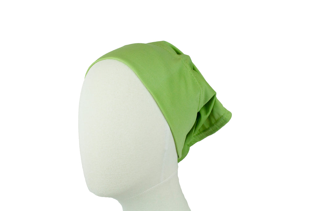 Under Scarf Tube Cap - Lime Green