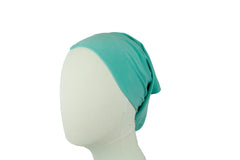 teal under scarf tube cap for hijab