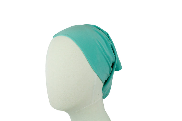 Under Scarf Tube Cap - Arctic Mint Blue