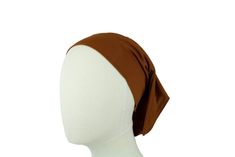 Under Scarf Tube Cap - Golden Brown