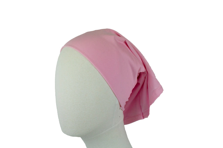 Under Scarf Tube Cap - Flamingo Pink