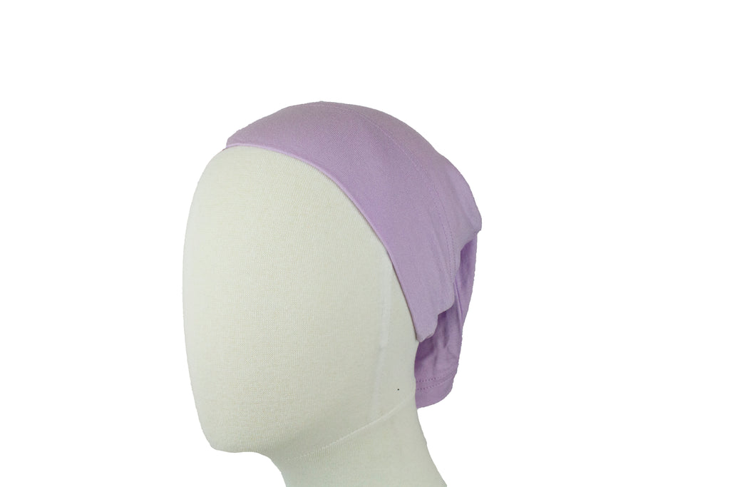 Jersey Under Scarf Tube Cap - Lilac