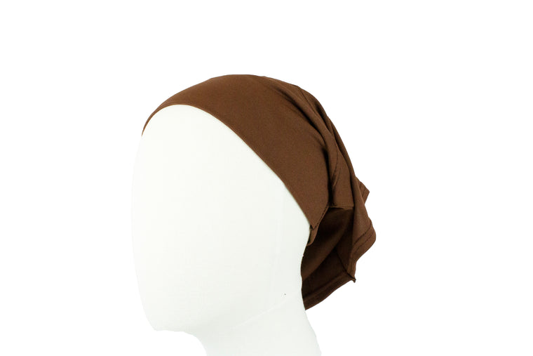 Under Scarf Tube Cap - Chocolate
