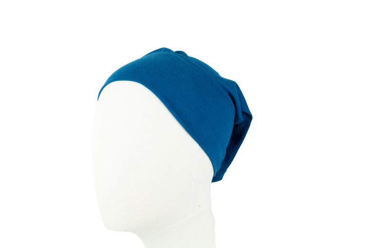 Under Scarf Tube Cap - Cobalt Blue